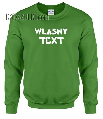 Bluza z własnym nadrukiem- Jasno zielona