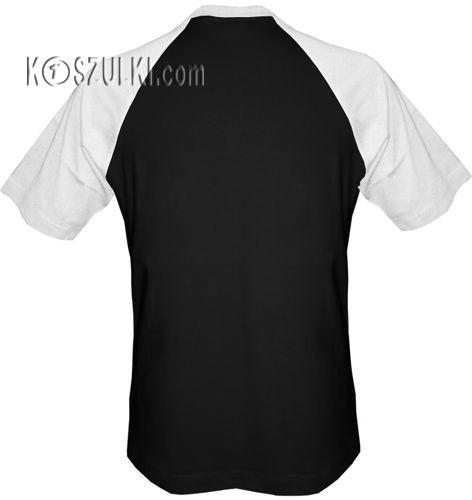 t-shirt Baseball dowolny tekst- czarno-biały