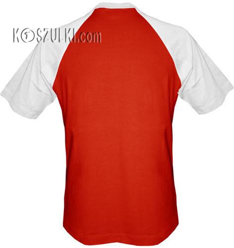 t-shirt Baseball dowolny tekst- czerwono-biały
