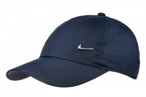f910cfd4d03 Czapka Nike z daszkiem Metal swoosh H86Logo Cup Junior granatowa 405043 451