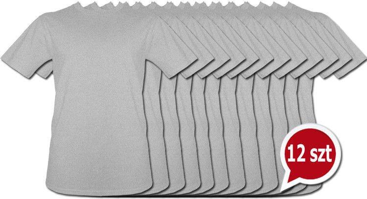 24868840f T-shirt Szary bez nadruku Pakiet promocyjny 12 sztuk | Męskie \ Bez ...