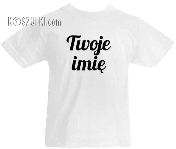 c307f2cdb5bd21 T-shirt dziecięcy z imieniem Biały | Zaprojektuj Koszulke ...