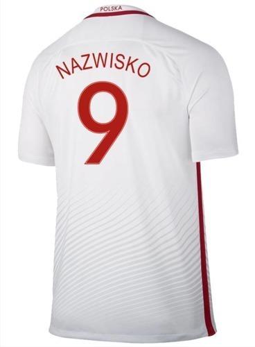 Oryginalna Koszulka Reprezentacji Polski Nike Euro2016 Home Stadium Biała Nazwisko