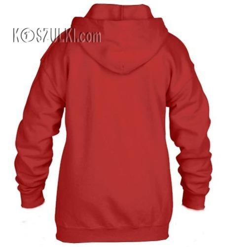 Bluza dziecięca z kapturem- Rozpinana- Czerwona