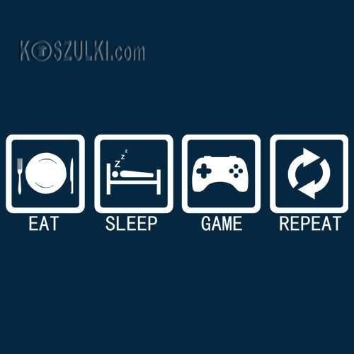 Bluza Eat, sleep game, repeat