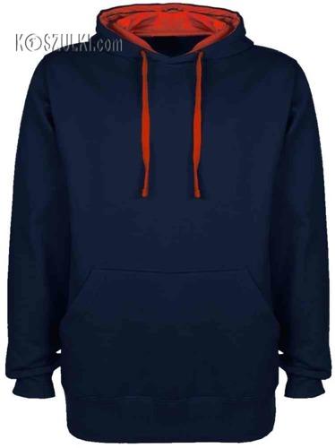 Bluza Kontrast Granatowo-czerwona