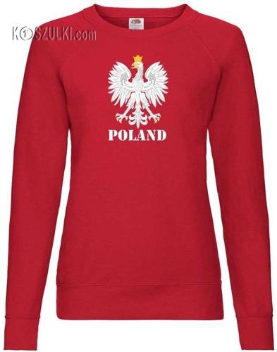 Bluza damska Fit Orzeł Polska i własne nazwisko