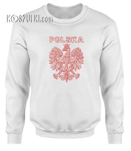 Bluza dziecięca Orzeł Polska biała