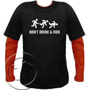 Bluza męska przedłużony rękaw Dont drink and run