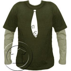 Bluza męska przedłużony rękaw- KRAWAT RYBA
