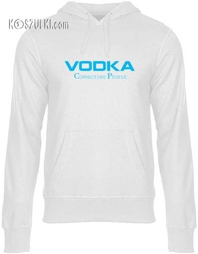 Bluza z kapturem Vodka biała