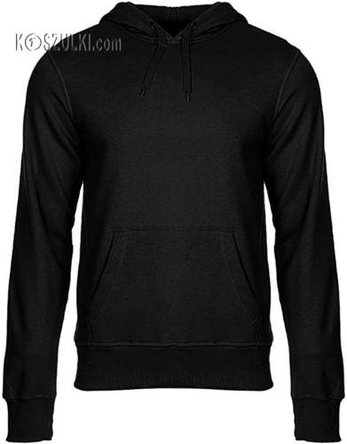 Bluza z kapturem bez nadruku- Czarna
