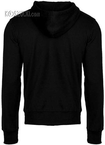 Bluza z kapturem bez nadruku Czarna