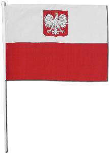 Chorągiewka Polska Godło  20 x 28 cm