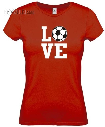 Koszulka damska Love football