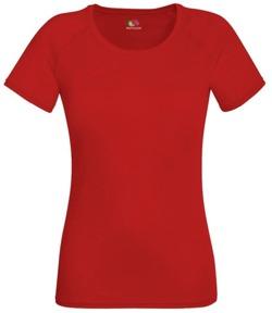 Koszulka damska treningowa- Fit Performance CZERWONA