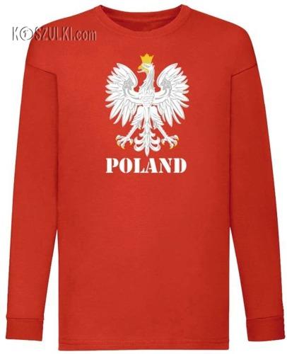 Koszulka dla dziecka z długim rękawem Orzeł Poland