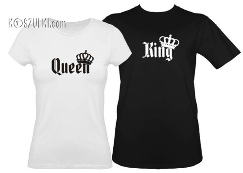 Koszulki dla pary-Zestaw koszulka damska i t-shirt king & queen