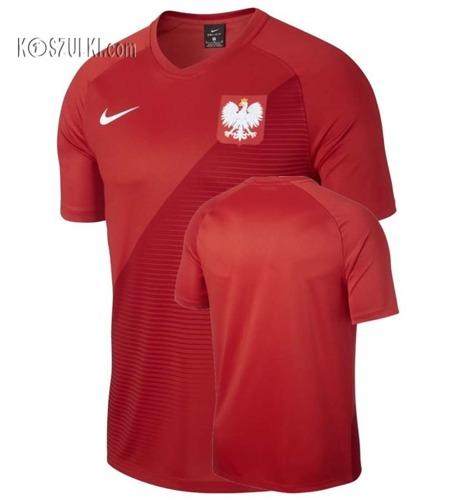 Oryginalna Koszulka Reprezentacj Polski Nike  Mś 2018  Away Top czerwona