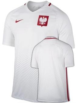 Oryginalna Koszulka Reprezentacji Polski Nike Euro2016 Home Stadium Biała
