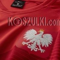Oryginalna Koszulka Reprezentacji Polski NIKE MŚ 2018 Away Top Czerwona Nazwisko