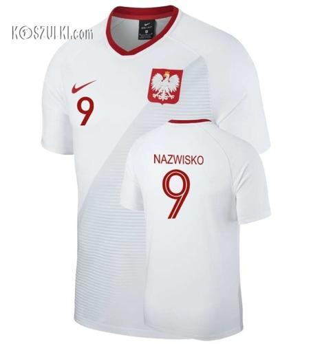 Oryginalna Koszulka Reprezentacji Polski Nike Mś 2018 Home Breathe Top Biała  Nazwisko