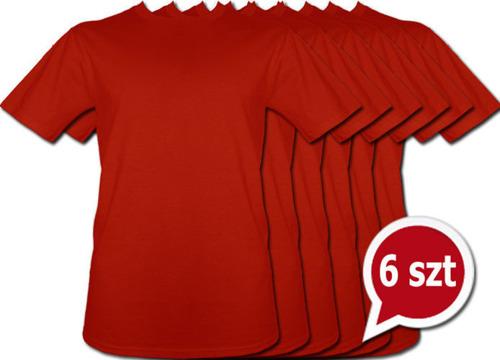 Pakiet 6 sztuk T-Shirt - Czerwony