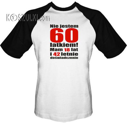 T-shirt Baseball Nie jestem 60 latkiem