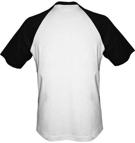 T-shirt Baseball biało-czarny