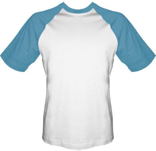 T-shirt Baseball biało-niebieski