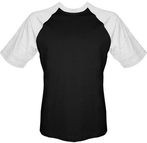 T-shirt Baseball czarno-biały