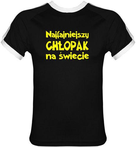 T-shirt FIT Najfajniejszy Chłopak na Świecie Czarny