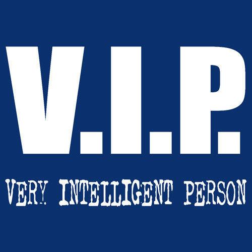 T-shirt FIT Very Intelligent Person Niebieski