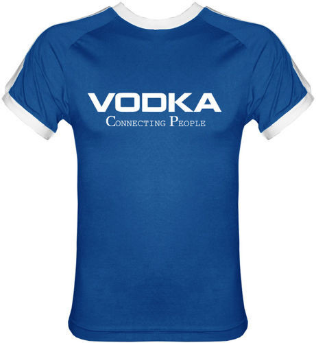 T-shirt Fit Vodka Niebieski