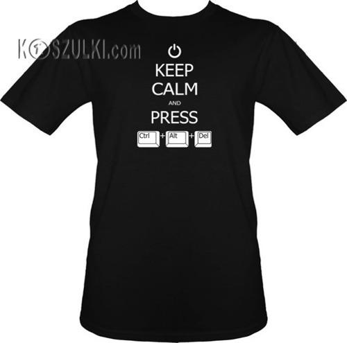 T-shirt Keep calm and Ctrl Alt Del