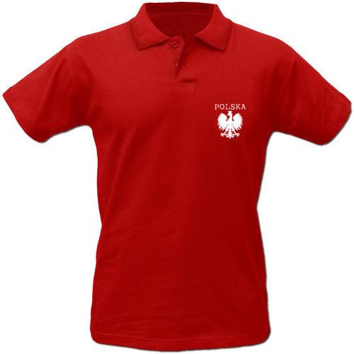 Koszulka Polo Polska z nadrukiem orzełka TP008