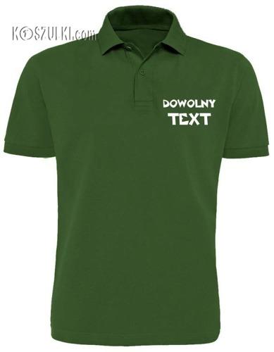 T-shirt POLO z własnym tekstem
