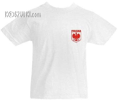 T-shirt dziecięcy- Polska + Własnie nazwisko i numer