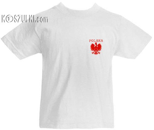 T-shirt dziecięcy Polska mały Orzeł Biały