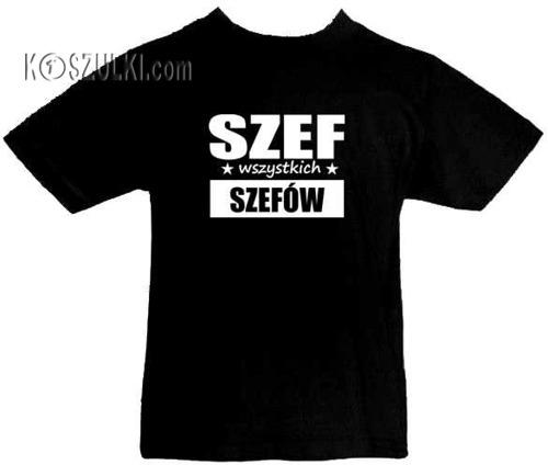 T-shirt dziecięcy Szef wszystkich szefów