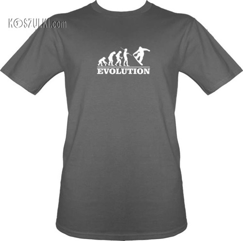 T-shirt  ewolucja Snowboard
