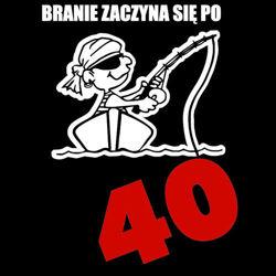 koszulka damska Branie Zaczyna się Po 40- CZARNA
