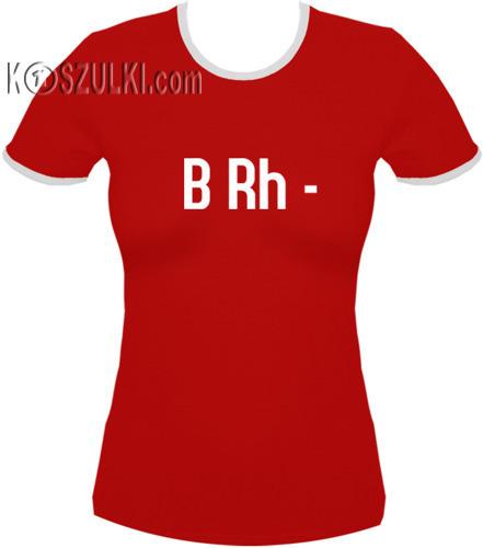 koszulka damska Brh MINUS- CZERWONA