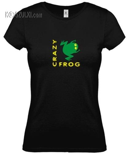 koszulka damska Crazy Frog- CZARNA
