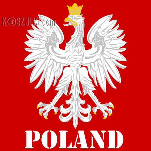 koszulka damska Kd108 ORZEŁ Poland- CZERWONA
