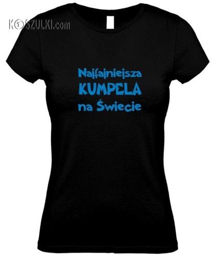 koszulka damska Najfajniejsza Kumpela CZARNA