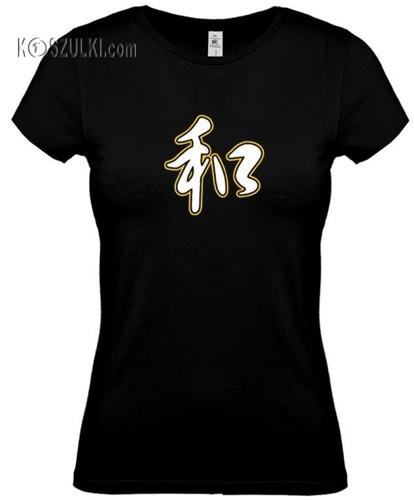 koszulka damska Pokój- CZARNA