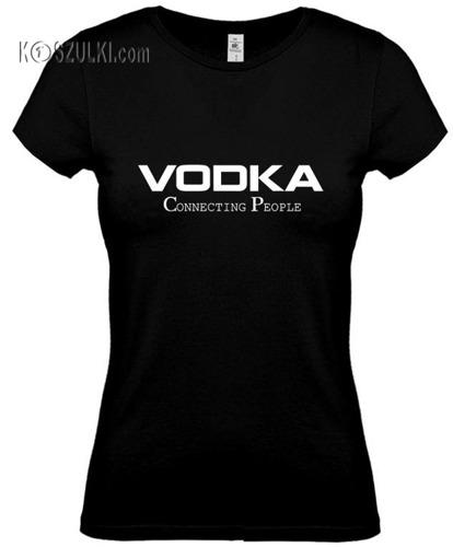 koszulka damska Vodka-CZARNA