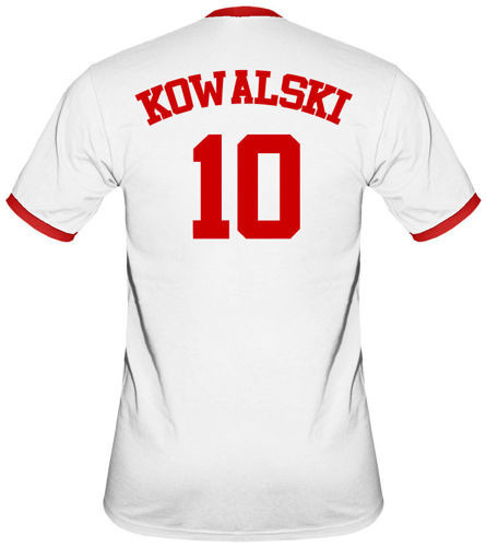 t-shirt 2K Biały Polska -własne nazwisko i numer