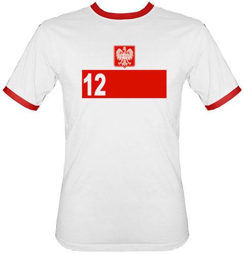 t-shirt 2K030 12 zawodnik Polska Biały